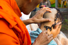 The ordination of Thai. Royalty Free Stock Photo