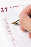 Ordine del giorno del calendario Fotografie Stock