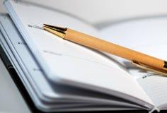 Ordine del giorno e penna Fotografie Stock