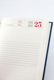 Ordine del giorno sul venticinquesimo dicembre Fotografie Stock