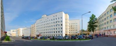 Ordine dello stato di Vitebsk di amicizia dell'università medica della gente e del dormitorio, Bielorussia Fotografia Stock