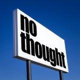 Ordine a NESSUN pensiero Fotografie Stock Libere da Diritti