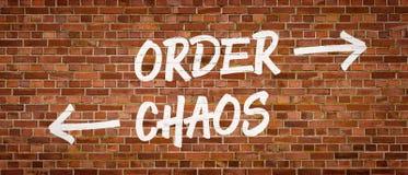 Ordine o caos Fotografia Stock Libera da Diritti