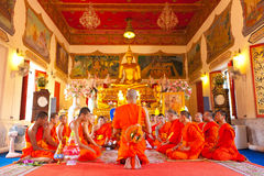 Ordini in cerimonia del monkhood Immagine Stock