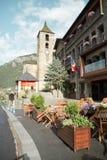Ordino. Andorra. Street at town of Ordino. Andorra Stock Photo