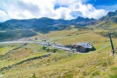 Ordino-Arcalis, Andorra ski resort in the spring. The Ordino-Arcalis ski resort in the spring in Andorra Stock Photography
