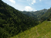 Ordino berg, Andorra Arkivbild