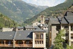 Ordino. Mountains and town of Ordino. Andorra Royalty Free Stock Photography