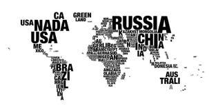 Ordmoln av världskartan i upplösning 4k stock video