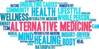 Ordmoln för alternativ medicin stock illustrationer