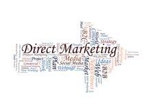 Ordmoln för direkt marknadsföring fotografering för bildbyråer