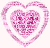 Ordmolnet älskar jag mamman Royaltyfria Bilder