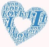 Ordmolnet älskar jag mamman Arkivfoto