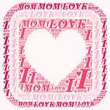 Ordmolnet älskar jag mamman Royaltyfri Fotografi