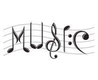 Ordmusik som anmärkningar royaltyfri illustrationer