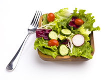 Ordna till för att äta sallad arkivbild
