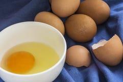 Ordna till för att laga mat ägg Arkivbild