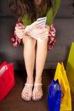 Ordna till för att spendera på shopping Arkivbild