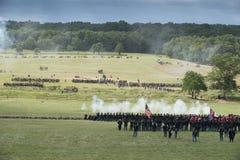 Ordna till för krig på Gettysburg Arkivbild