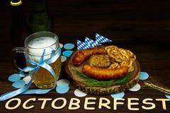 Ordna till för oktober ölfestival i den höstoktober månaden i Tyskland royaltyfria bilder