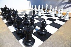Ordna till för schackstrid Fotografering för Bildbyråer