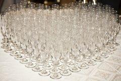 ordnad form för champagneexponeringsglashjärta Royaltyfri Fotografi