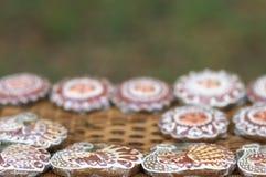 ordnad pepparkakaförsäljning Royaltyfri Fotografi