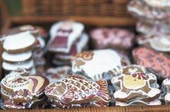 ordnad pepparkakaförsäljning Royaltyfria Foton