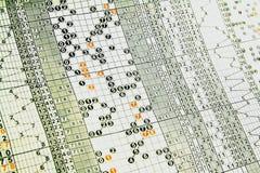 Ordnade bakgrundsdiagram Fotografering för Bildbyråer