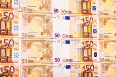 Ordnade euroräkningar Arkivfoto