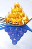 ordnade pills för fiskgaffelolja Fotografering för Bildbyråer