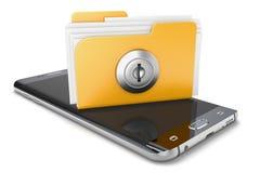 Ordner auf Smartphone 3d Lizenzfreies Stockbild