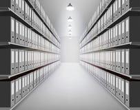 Ordner im Archiv Auch im corel abgehobenen Betrag Lizenzfreie Stockbilder