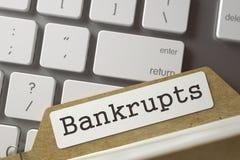Ordner-Index mit Aufschrift Bankrupts 3d Lizenzfreies Stockbild