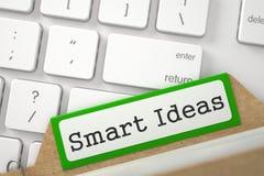 Ordner-Index mit Aufschrift-Smart-Ideen 3d Stockfotos