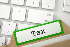 Ordner-Index mit Aufschrift-Steuer 3d Stockbild