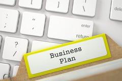 Ordner-Index mit Aufschrift-Unternehmensplan 3d Stockbilder