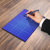 Ordner mit Papier und Stift, Geschäftskonzept Stockfoto