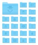 Ordner OSs X mit Sicherheits-Ikonen Lizenzfreies Stockfoto