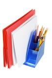 Ordner und Bleistifte Lizenzfreie Stockbilder
