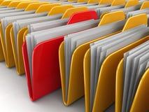 Ordner und Dateien Lizenzfreies Stockfoto