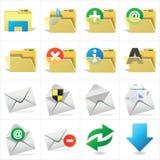 Ordner und E-Mail lizenzfreie abbildung