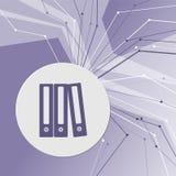 Ordnerikone auf purpurrotem abstraktem modernem Hintergrund Die Linien in allen Richtungen Mit Raum für Ihre Werbung stock abbildung