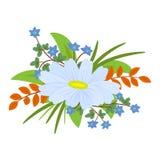 Ordning av blommor och sidor för garnering vektor illustrationer