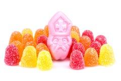 Ordning av färgrika sötsaker. Godis på den holländareSinterklaas händelsen Fotografering för Bildbyråer
