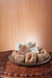 Ordning av fikonträdet och turkisk fröjd Royaltyfri Fotografi