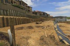 Ordning av landtäppor för konstruktion av privata hus i Nya Zeeland Fotografering för Bildbyråer