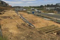 Ordning av landtäppor för konstruktion av privata hus i Nya Zeeland Arkivfoto