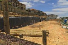 Ordning av landtäppor för konstruktion av privata hus i Nya Zeeland Arkivbild