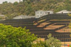 Ordning av landtäppor för konstruktion av privata hus i Nya Zeeland Royaltyfri Fotografi
